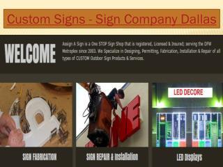 Sign Company Dallas - Channel Letters