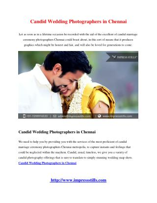 Candid Wedding Photographers in Chennai