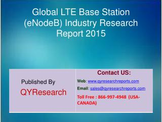 Global LTE Base Station (eNodeB) Market 2015 Industry Growth, Trends, Outlook, Analysis, Research and Development