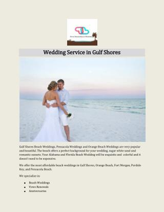 Wedding Service in Gulf Shores