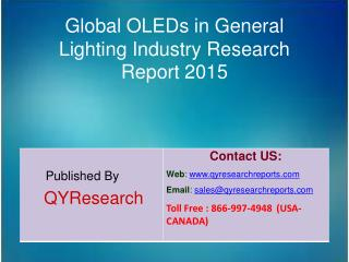 Global OLEDs in General Lighting Market 2015 Industry Development, Forecasts,Research, Analysis,Growth, Insights and Mar
