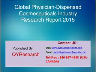 Global Physician-Dispensed Cosmeceuticals Market 2015 Industry Trends, Analysis, Outlook, Development, Shares, Forecasts