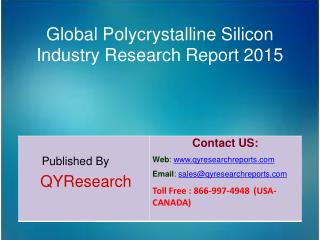 Global Polycrystalline Silicon Market 2015 Industry Outlook, Research, Insights, Shares, Growth, Analysis and Developmen