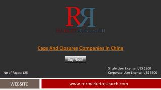 In-Depth China Caps and Closures Companies and Forecasts Analysis Report