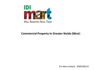 IDI Mart Retails Mall, Shops, Office Space Noida Extension
