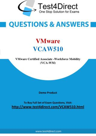 VMware VCAW510 Test Questions