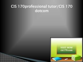 CIS 170 Successful Learning/cis170dotcom