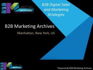 B2B Digital Sales and Marketing Strategies