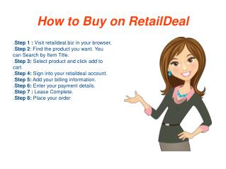 Buy Now Pay Later With Low Weekly Payments at RetailDeal