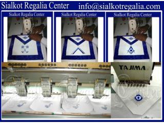 Masonic Blue lodge officer apron