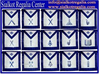 Masonic officer apron set Blue lodge