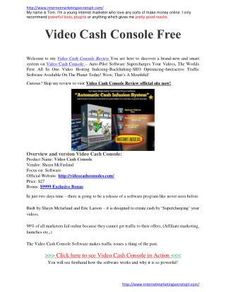 Video Cash Console Video Cash Console Review