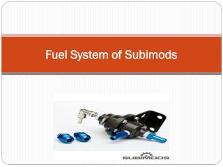 Fuel System of Subimods