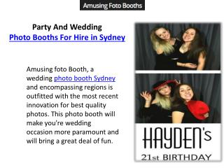 Party And Wedding Photo Booths For Hire in Sydney