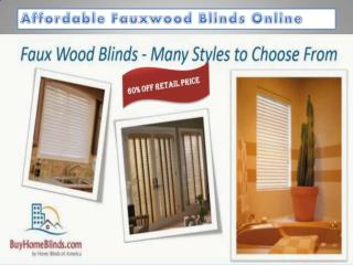 Affordable fauxwood blinds online
