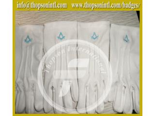 Masonic Gloves with emblem