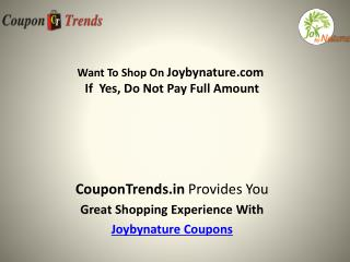 Joybynature coupons
