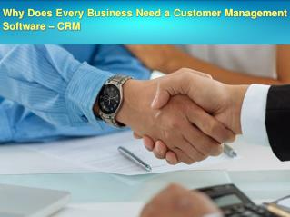 Why Does Every Business Need a Customer Management Software – CRM.