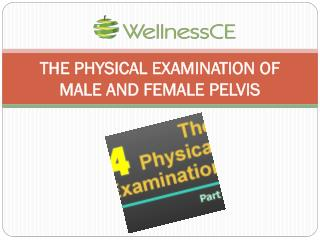 THE PHYSICAL EXAMINATION OF MALE AND FEMALE PELVIS