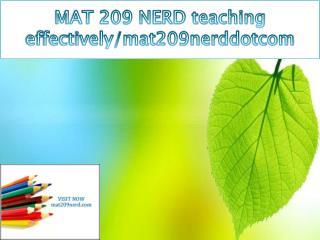 MAT 209 NERD teaching effectively/mat209nerddotcom