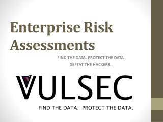 Enterprise Risk Assessments