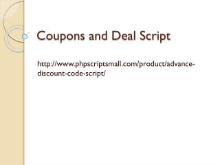 Coupons and Deal Script