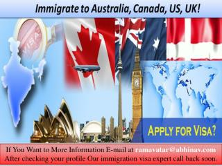 Immigrate to Australia, Canada, US, UK!