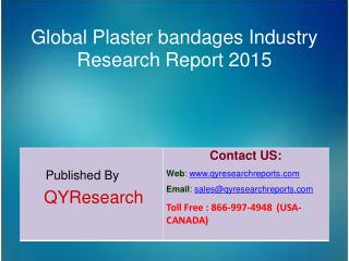 Global Plaster bandages Market 2015 Industry Development, Research, Forecasts, Growth, Insights, Outlook, Study and Over