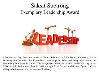 Saksit Suetrong Exemplary Leadership Award