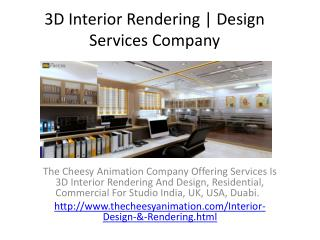 3D Interior Rendering | Design Services Company