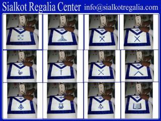 Blue lodge officer apron set
