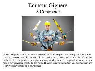 Edmour Giguere A Contractor