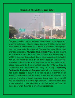 Gurgaon - A Dream Housing Project