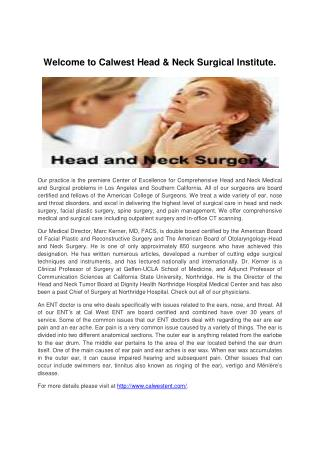 Head and Neck Surgery-calwestent