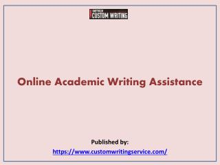 Online Academic Writing Assistance