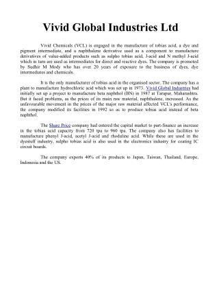 Vivid Global Industries Ltd