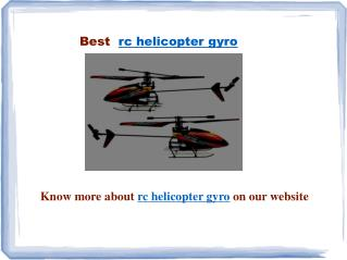 rc helicopter gyro