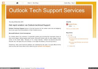 Get rapid solution via Outlook technical Support