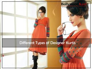 Different Types of Designer Kurtis