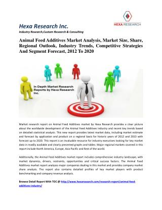 Animal Feed Additives Market Analysis, Size, Share, Industry Trends And Forecast, 2012 To 2020