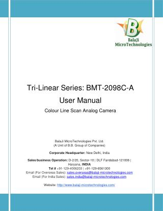 2098 PIXEL RGB LINE SCAN CAMERA | KLI-2113 LINE SCAN CAMERAS