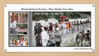 Hindu Spiritual Teacher - Shree Radhe Guru Maa