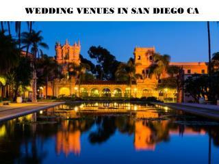 WEDDING VENUES IN SAN DIEGO CA