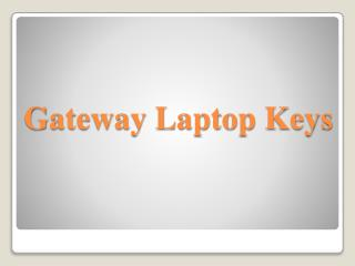 Gateway Laptop Keys