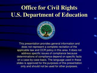 Office for Civil Rights U.S. Department of Education