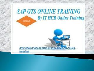 Best SAP GTS online training by IT Real Time Experts