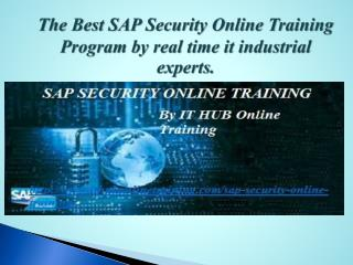 Best SAP security online training by IT Real Time Experts