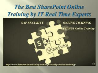 Best SAP SharePoint online training by IT Real Time Experts