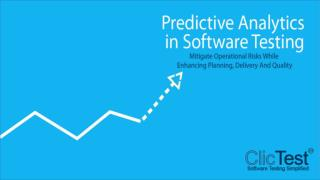 Thought Leadership Webinar - Predictive Analytics in Software Testing Presentation.
