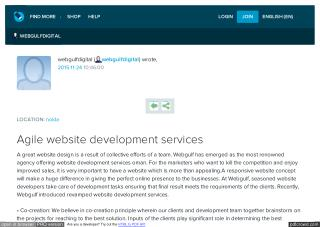 Agile website development services